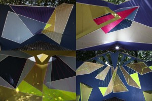 """Carousel"" photos from the 4 sides of Ahn's outdoor sculptural installation."